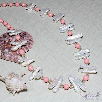 Freshwater Pearls and Pink Coral Swarovski Pearls by MagsBeadsCreation