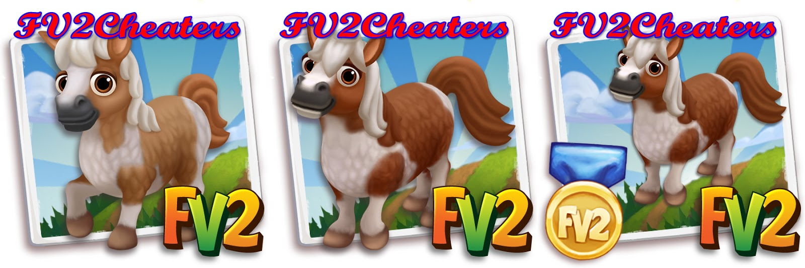 Charming Farmville Horse #10: Farmville 2 Cheat Code For VIP Miniature Brown Painted Horse
