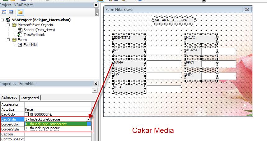 Membuat Aplikasi Form Sederhana Di Ms.Excel 2013