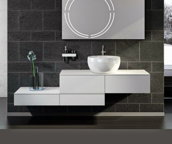 creative bathroom vanity cabinets wall mounted in ultra modern style