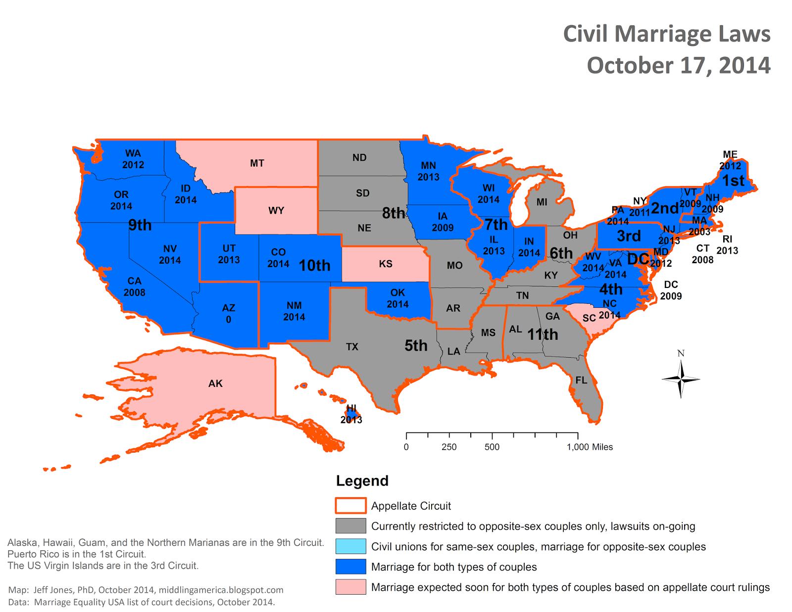 Us circuit court map