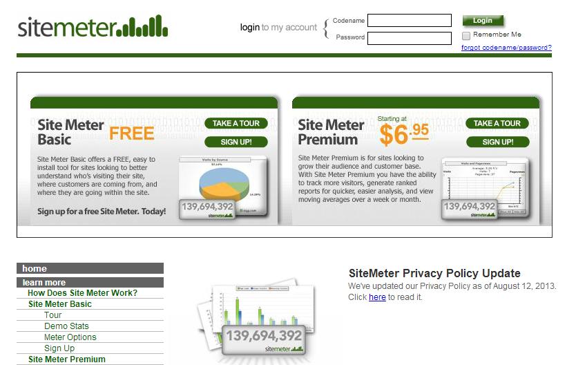 Mengetahui Traffict Jumlah Pengunjung Blog/ Website Dengan Sitemeter 2