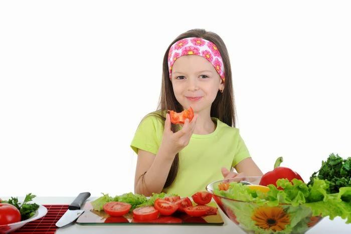 Los niños y la alimentación, los vegetales