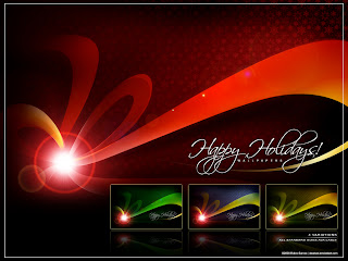 happy holiday art wallpaper