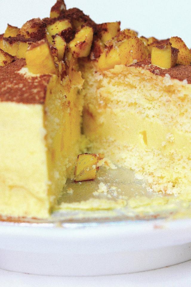 Pencil Kitchen: Mango sponge mousse layer cake