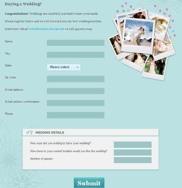 Bridal Brokerage - Buy A Canceled Wedding
