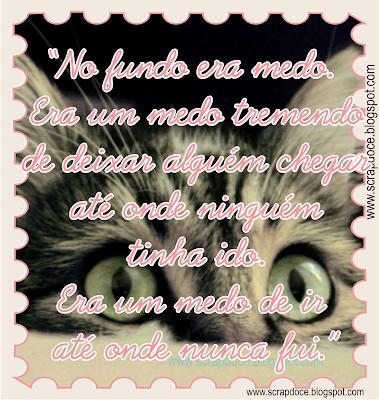 Recadinho sobre Medo com frase de Clarissa Corrêa para compartilhar no Facebook