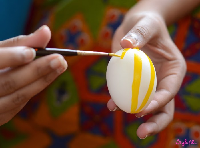 DIY, easter, eggs, paint, art, crafts, do it yourself, style file, blogger, DIY project, fabric, acrylic, painting