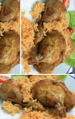 resep ayam presto goreng dengan kremes spesial glult