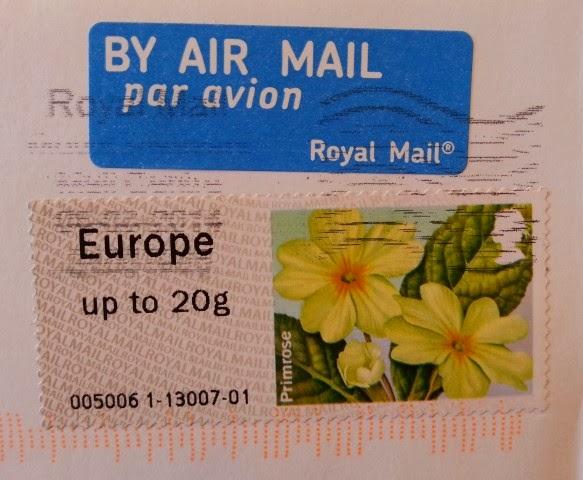 francobollo autoadesivo britannico Primrose
