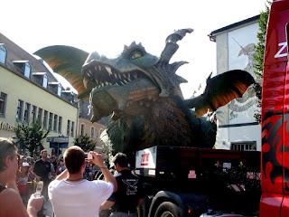 Foto mit großem Drachen