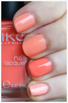 Kiko smalto 358 Pesca 359 Barry M swatches confronti