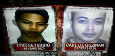 UPLB Murder Suspects Tyrone Terbio and Carl De Guzman