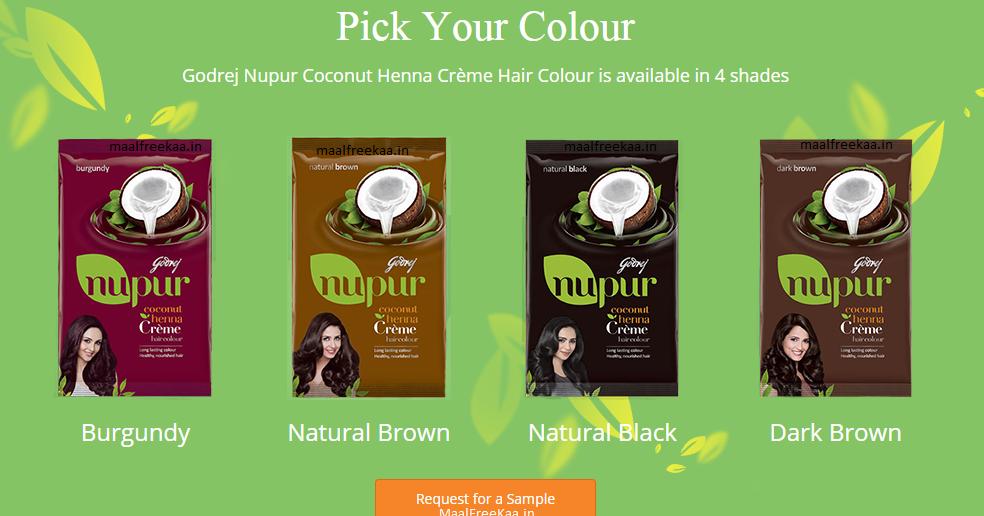 Get Free Sample Of Godrej Nupur Coconut Henna Cr 232 Me Hair