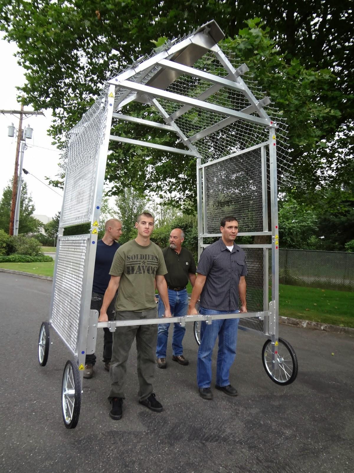 Kiln safety inspection cage