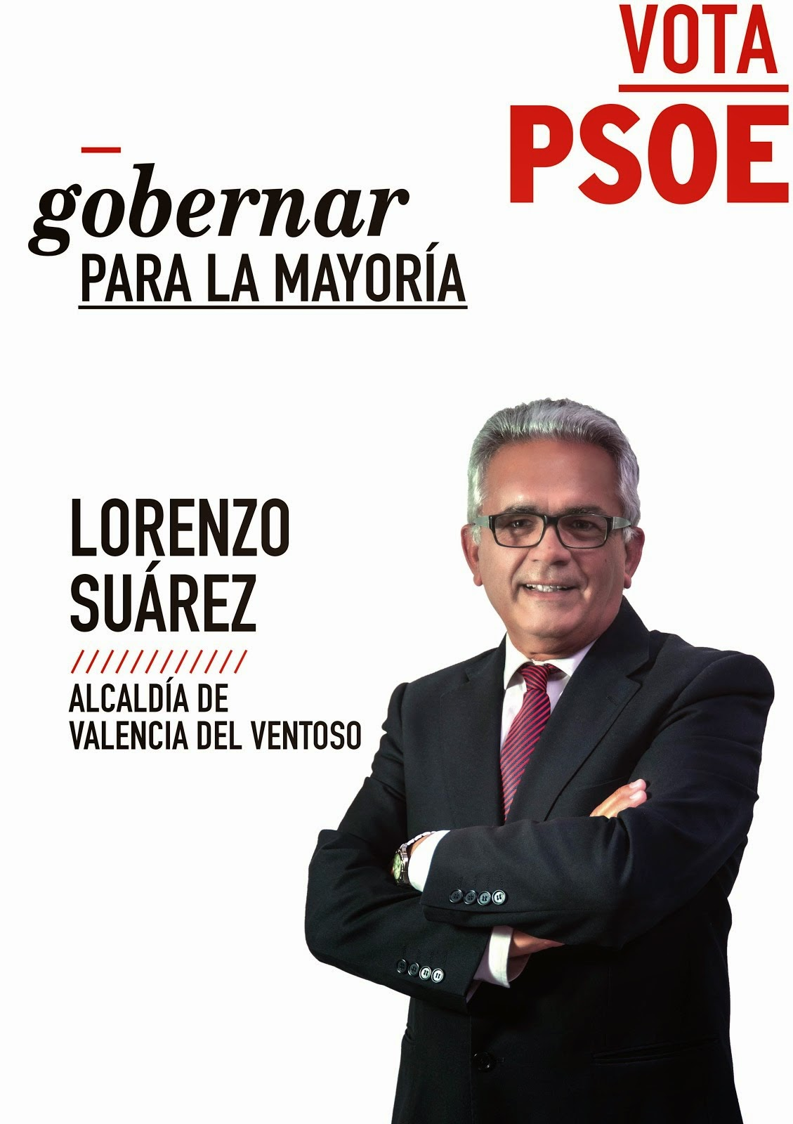 Cartel candidato campaña mayo 2015