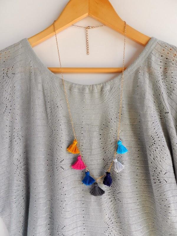Diy tassel necklace 8