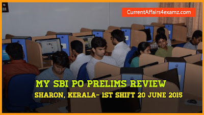 20 June 2015 SBI PO Prelims Review