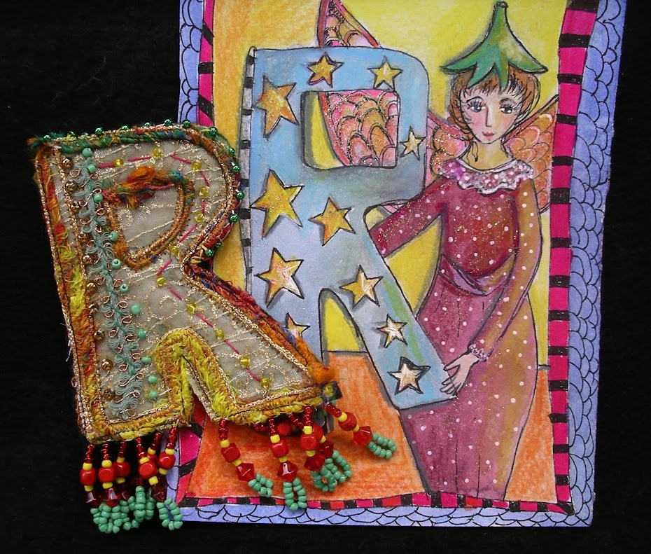 Letter Brooch and Card