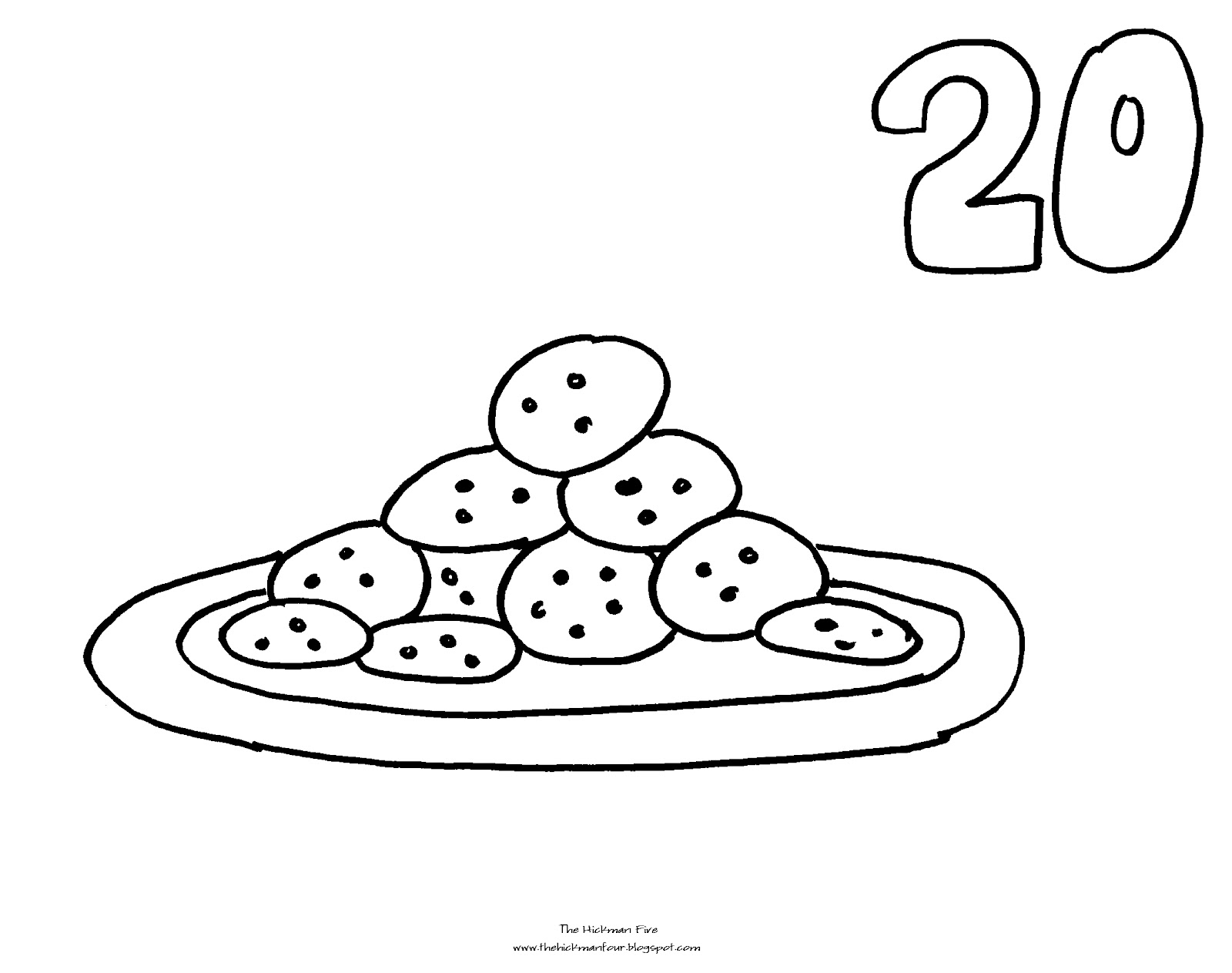 Christmas countdown coloring page search results for Cookies coloring page