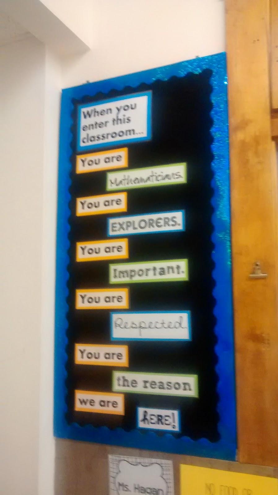 Classroom Whiteboard Decoration Ideas ~ Math love bulletin board ideas