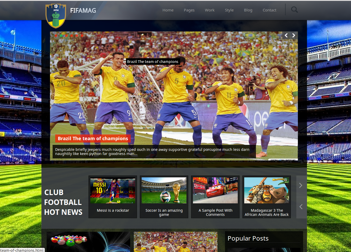 Fifamag Reponsive Blogger Template