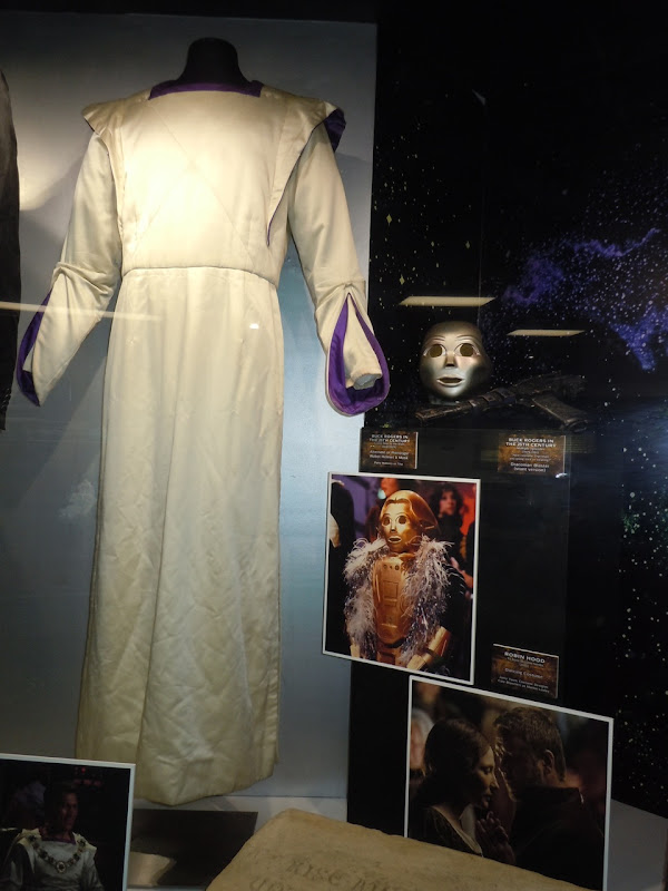 Buck Rogers TV costume and props display