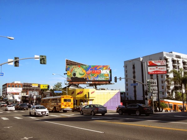 Mad Men final season 7 billboard Sunset Strip