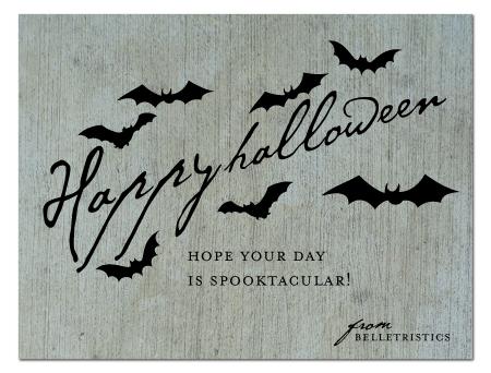 happy halloween belletristics bats spooky
