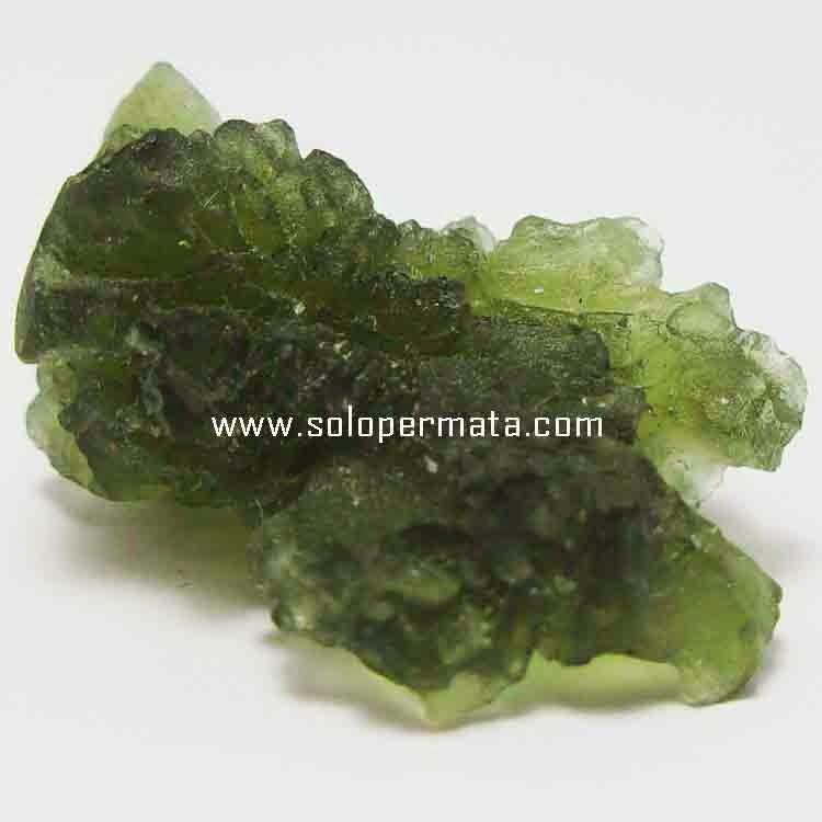 Batu Permata Moldavite Tektite Bahan - 26B15