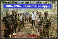 Forest Department Recruitment 2015