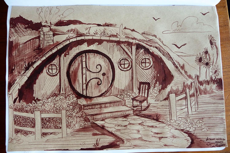 Venetian glass pens shealynn 39 s faerie shoppe for Hobbit house drawings