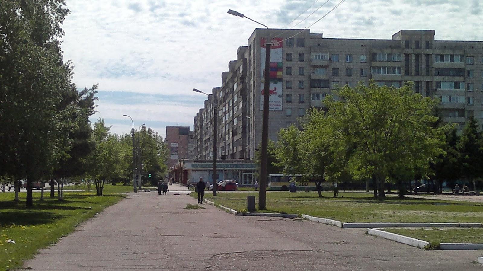 Проспект Первостроителей в Комсомольске на Амуре