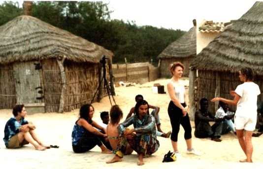 My sister (back to us) and the other dancers from New Haven, Ct in Senegal: simplelivingeating.com