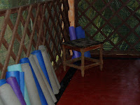 yoga mats, shack in Kerala