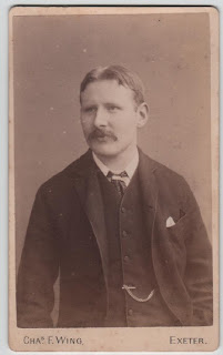 Carte de visite of a gentleman, by Chas F Wing, Exeter