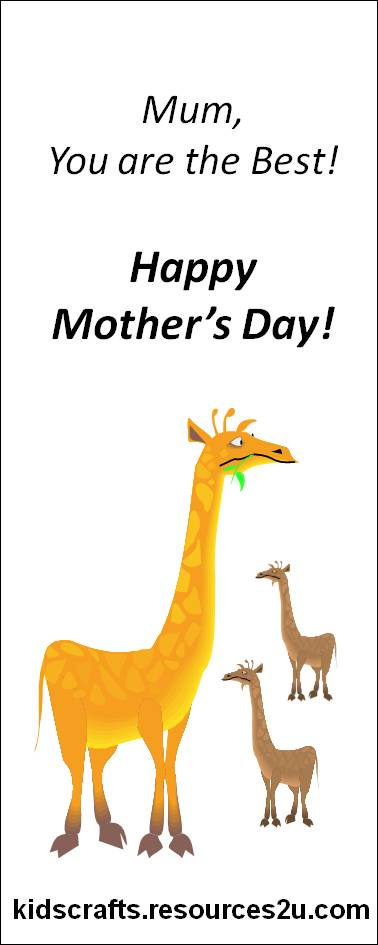 happy mothers day cards for kids. Printable Happy Mother#39;s Day