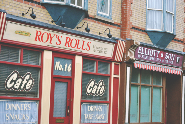 Roy's Rolls and Elliot and Son Butcher Coronation Street Tour