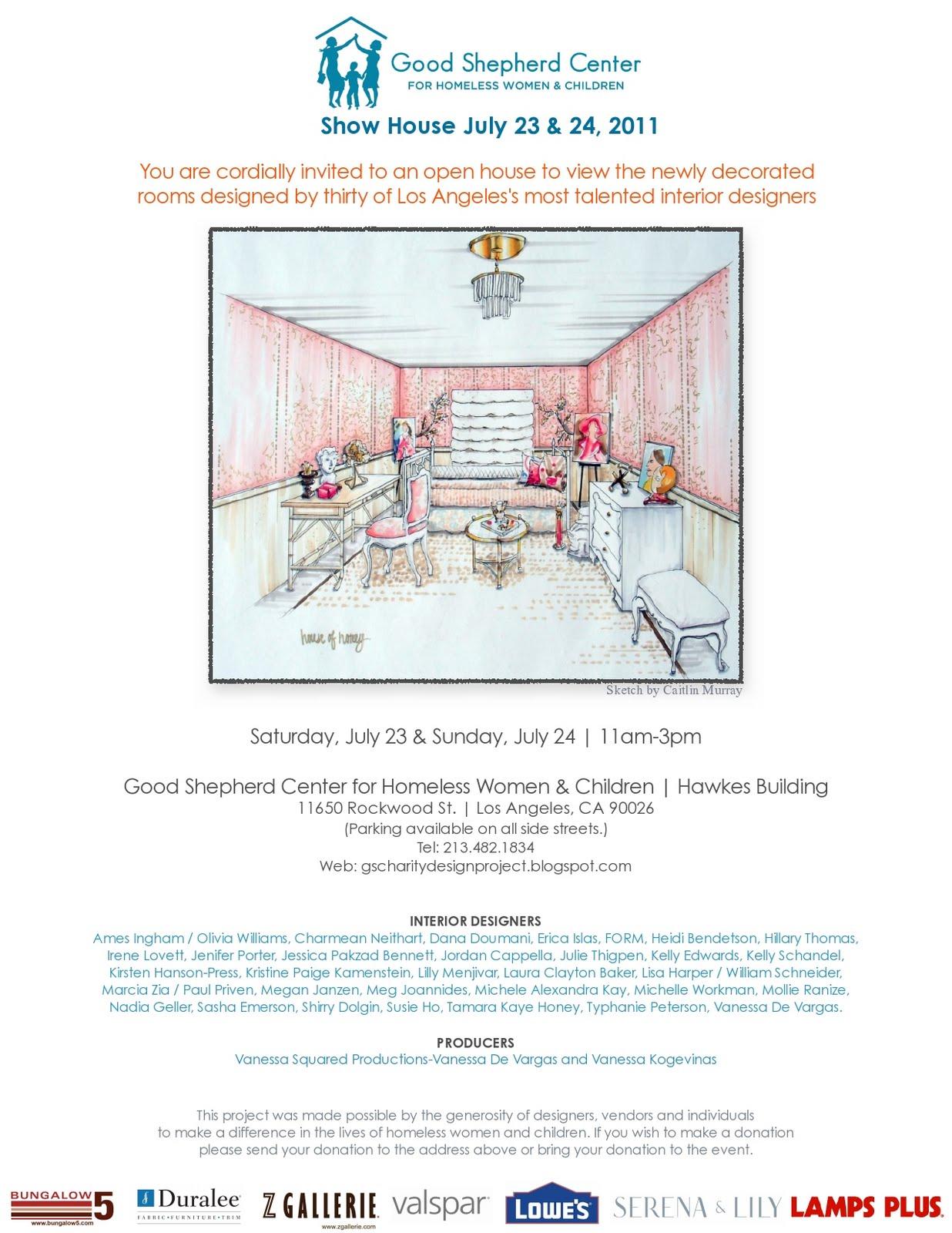 Good Shepherd Charity Design Project Invite
