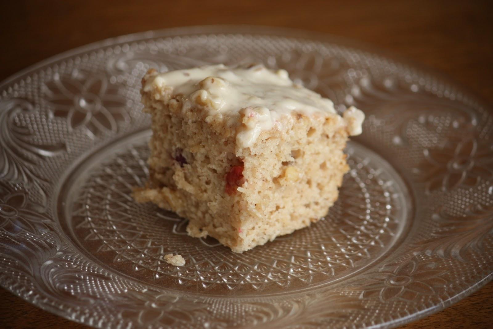 cranberry pecan coffee cake with cream cheese glaze coffee cake