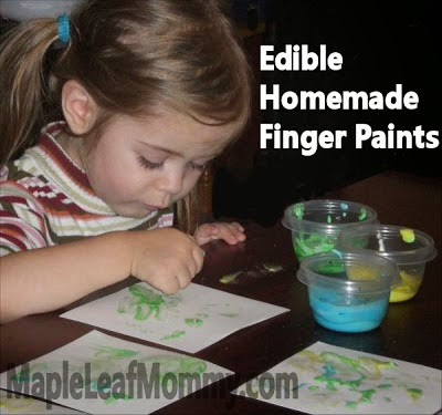 sensory activities for kids, finger paint, edible
