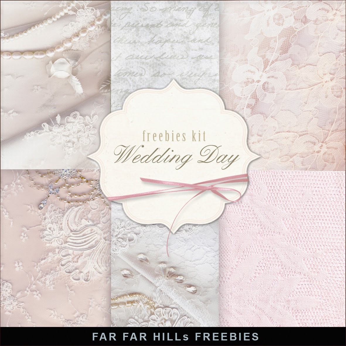 Freebies Kit of Backgrounds Wedding DayFar Far Hill Free