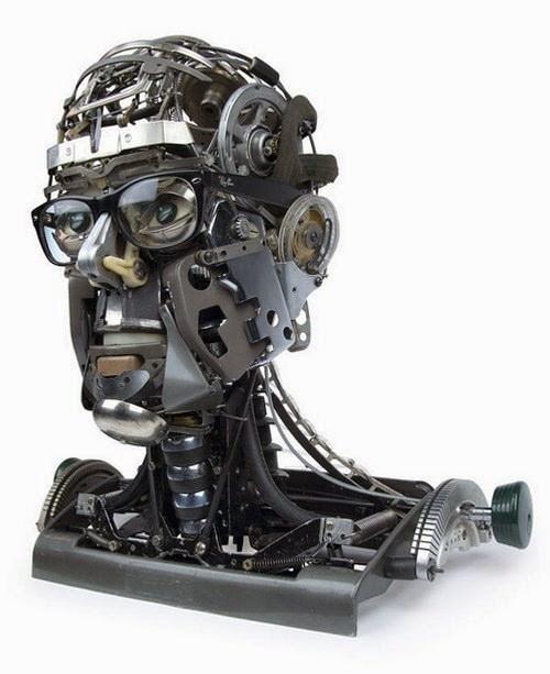 02-Jeremy Mayer-Typewriter-Robot-Sculptures-www-designstack-co
