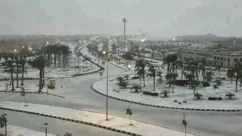 Salju di Kairo