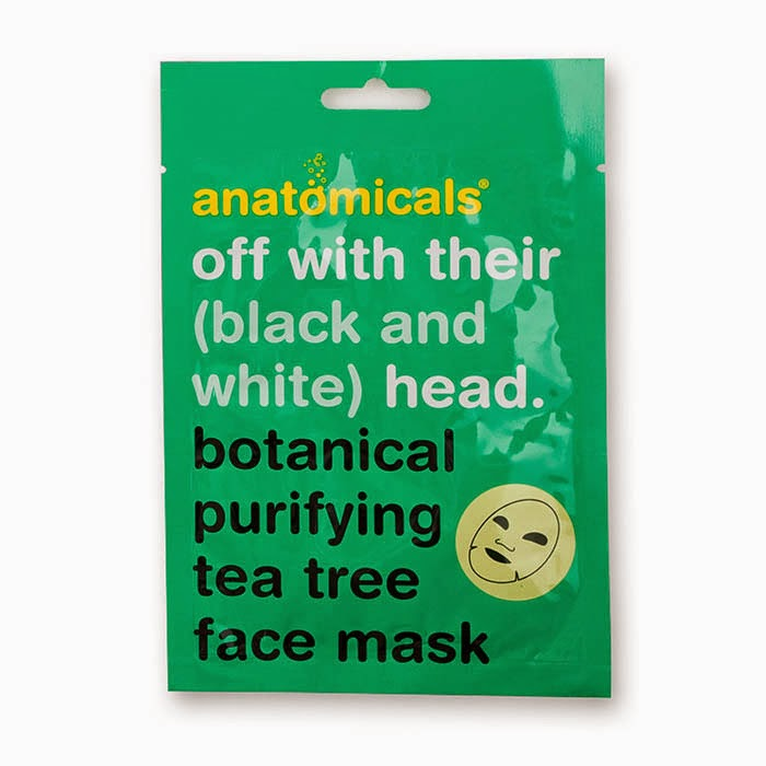 Anatomicals - Off with their (black and white) head - Botanical purifying tea tree face mask