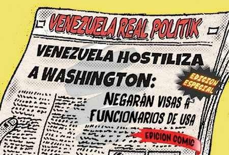 front page cómic - Venezuela Estados Unidos