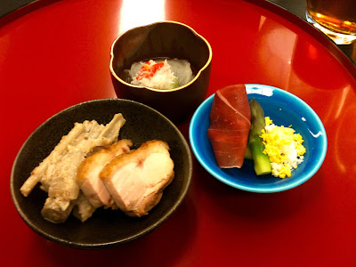 Traditional Japanese wedding ceremony food