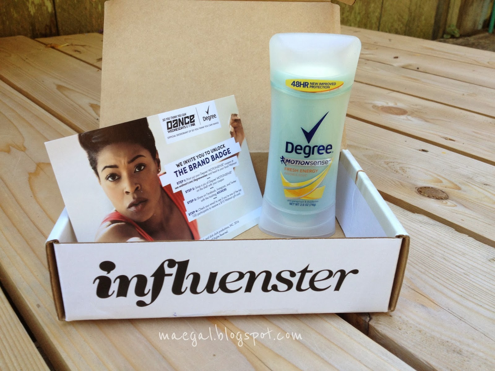 Degree MotionSense Deodorant Influenster VoxBox
