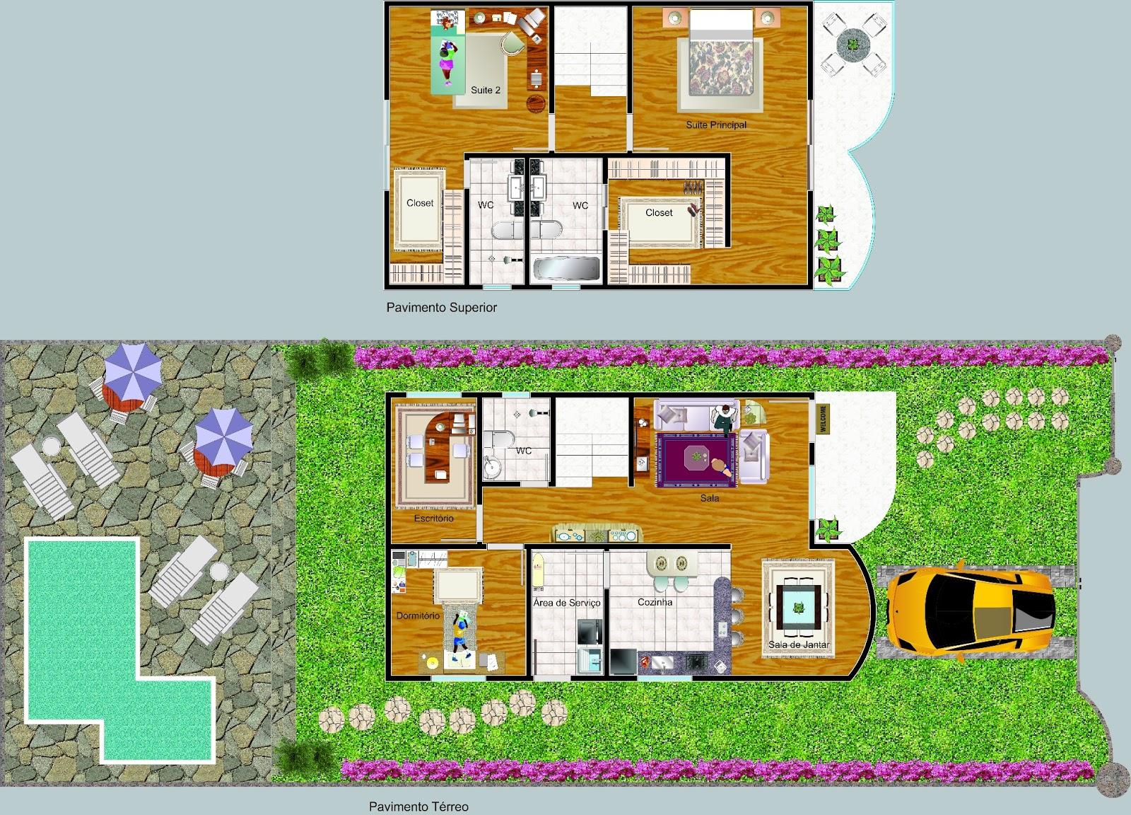 Vivicad projeto arquitet nico desenvolvido em autocad e for Casa moderna autocad