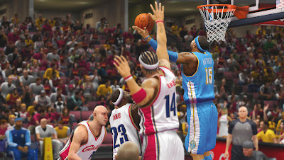 NBA 2K13 Melo (Nuggets) and LeBron (Cavs)